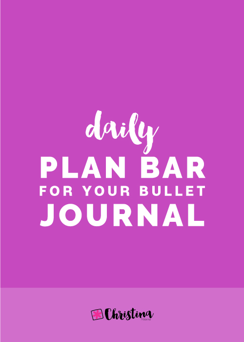 Daily Plan Bar for your Bullet Journal