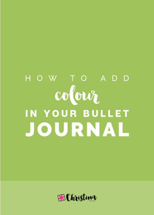 How to add colour in your bullet journal