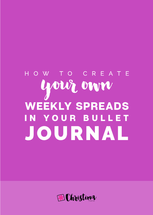 How to create your own weekly spreads in your bullet journal