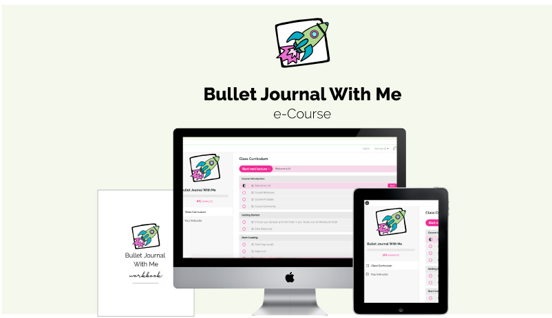 Bullet Journal With Me e-Course - Start the New Year with a blast and organise your life in your Bullet Journal.