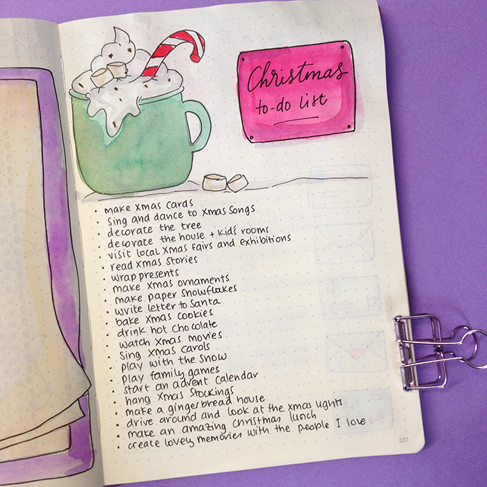 6 Christmas Spreads for your Bullet Journal - Christmas To Do List