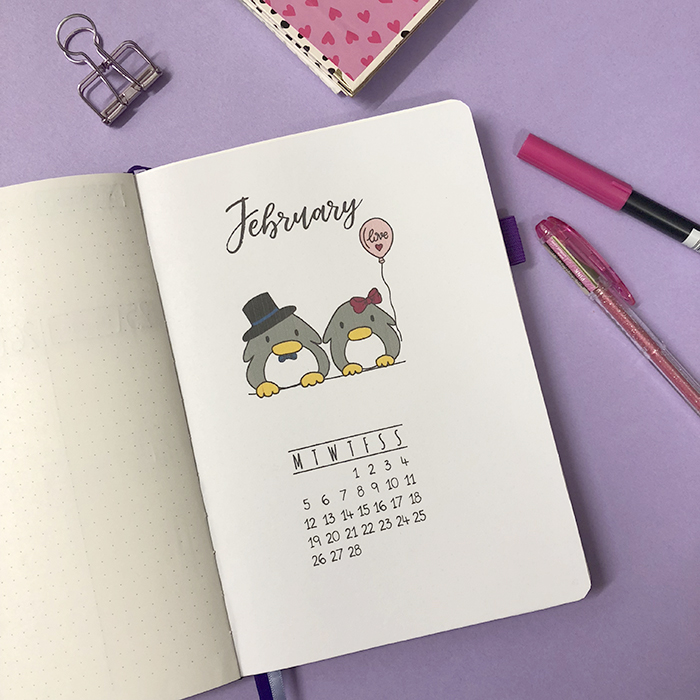 Plan With Me - Bullet Journal Set Up for February 2018