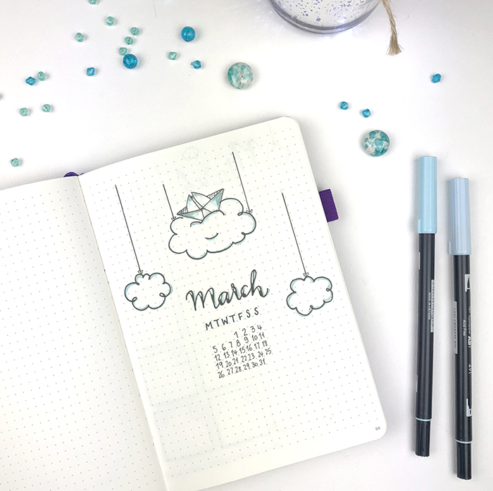Plan With Me - Bullet Journal March setup