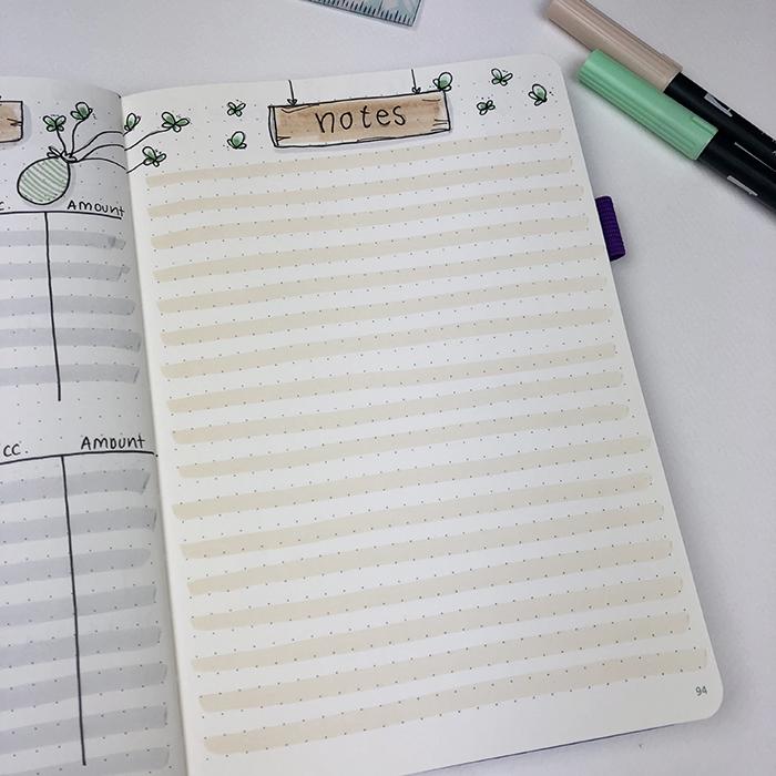 April 2018 Notes Bullet Journal Setup.jpg