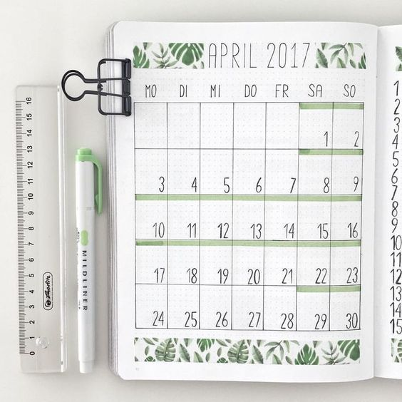 20 monthly spread layouts for your bullet journal ideas and inspiration christina. Black Bedroom Furniture Sets. Home Design Ideas
