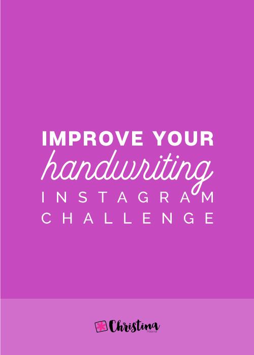 Improve Your Handwriting Instagram Challenge