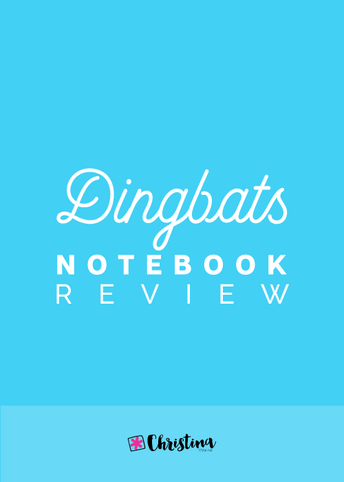 Dingbats Notebook Review - www.christina77star.net