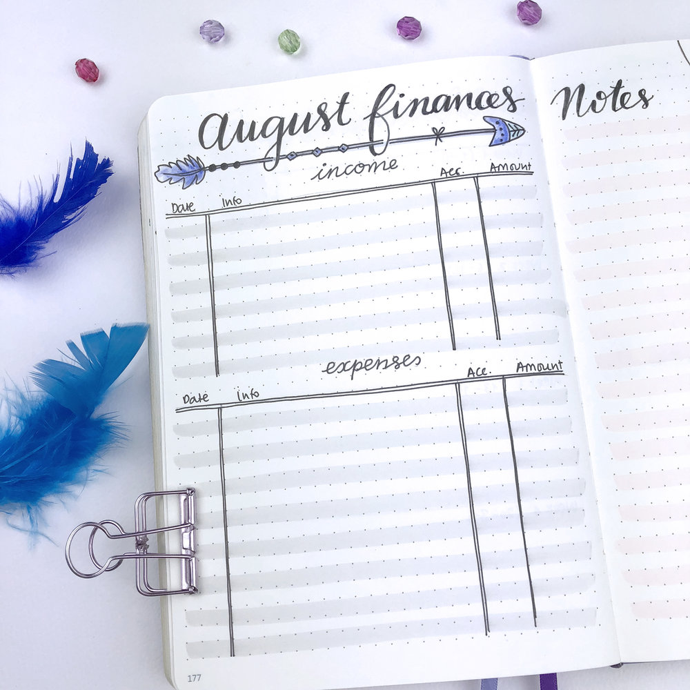 Plan With Me - My August Set Up in my Bullet Journal + Video