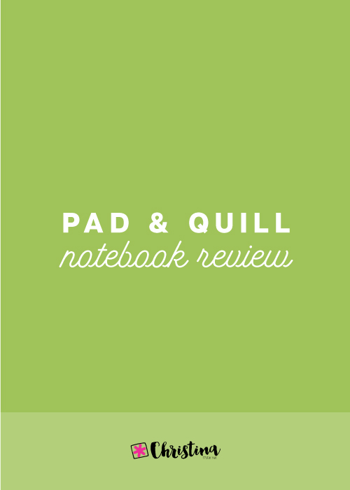 Pad and Quill Notebook Review