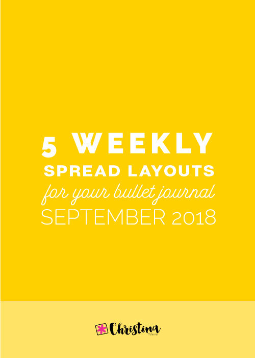 Weekly Spread Ideas for your Bullet Journal - September 2018