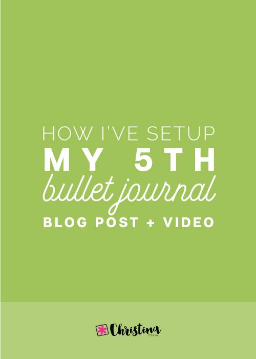 How I've setup my 5th bullet journal + video / www.christina77star.net