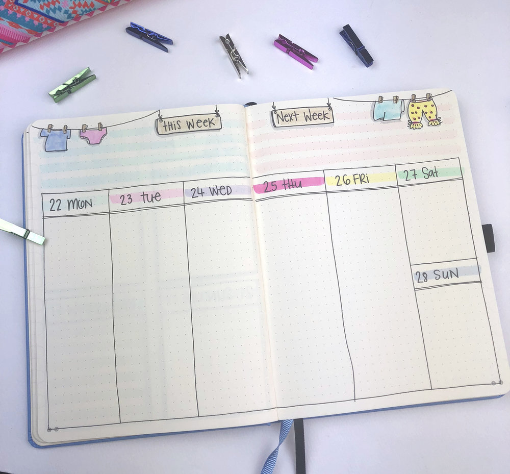 4 Weekly Spread Ideas for your bullet journal - October 2018 - www.christina77star.net