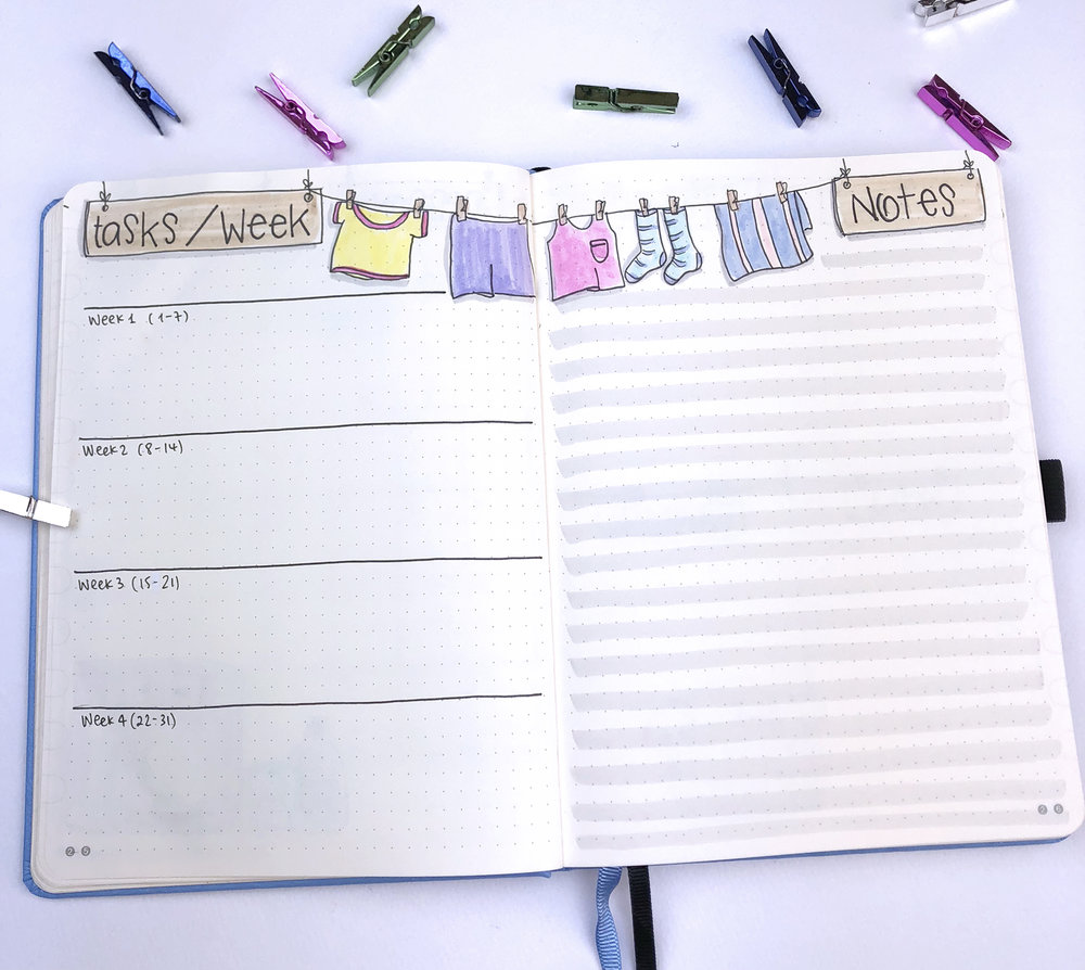 Plan With Me: October 2018 Bullet Journal setup
