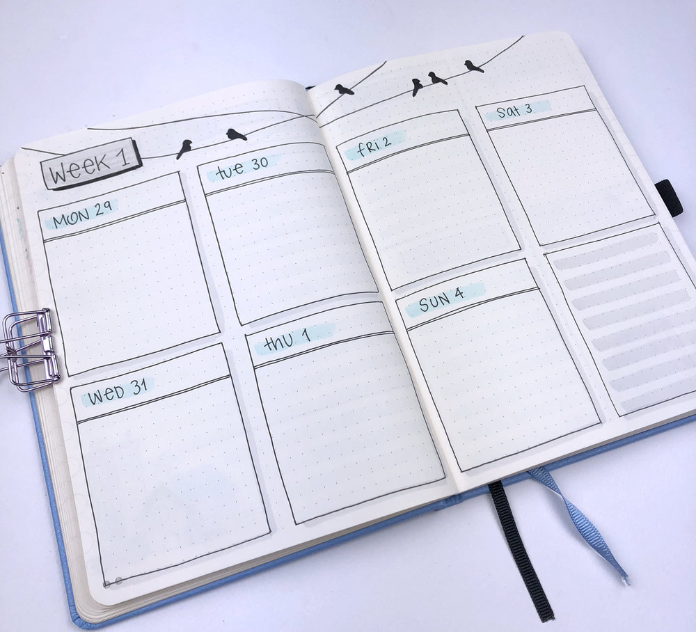 Bullet Journal Ideas 4 Weekly Spread Layouts For November 2018