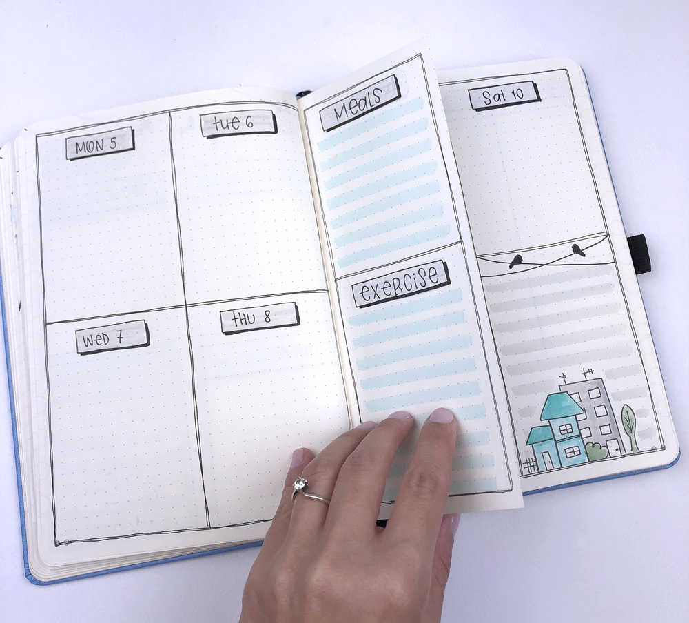 Bullet Journal Weekly Spread Ideas for November 2018