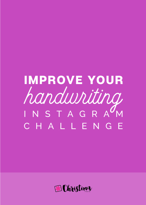 Improve Your Handwriting Challenge - November 2018 | christina77star
