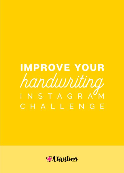 Improve Your Handwriting Challenge - December 2018 | christina77star