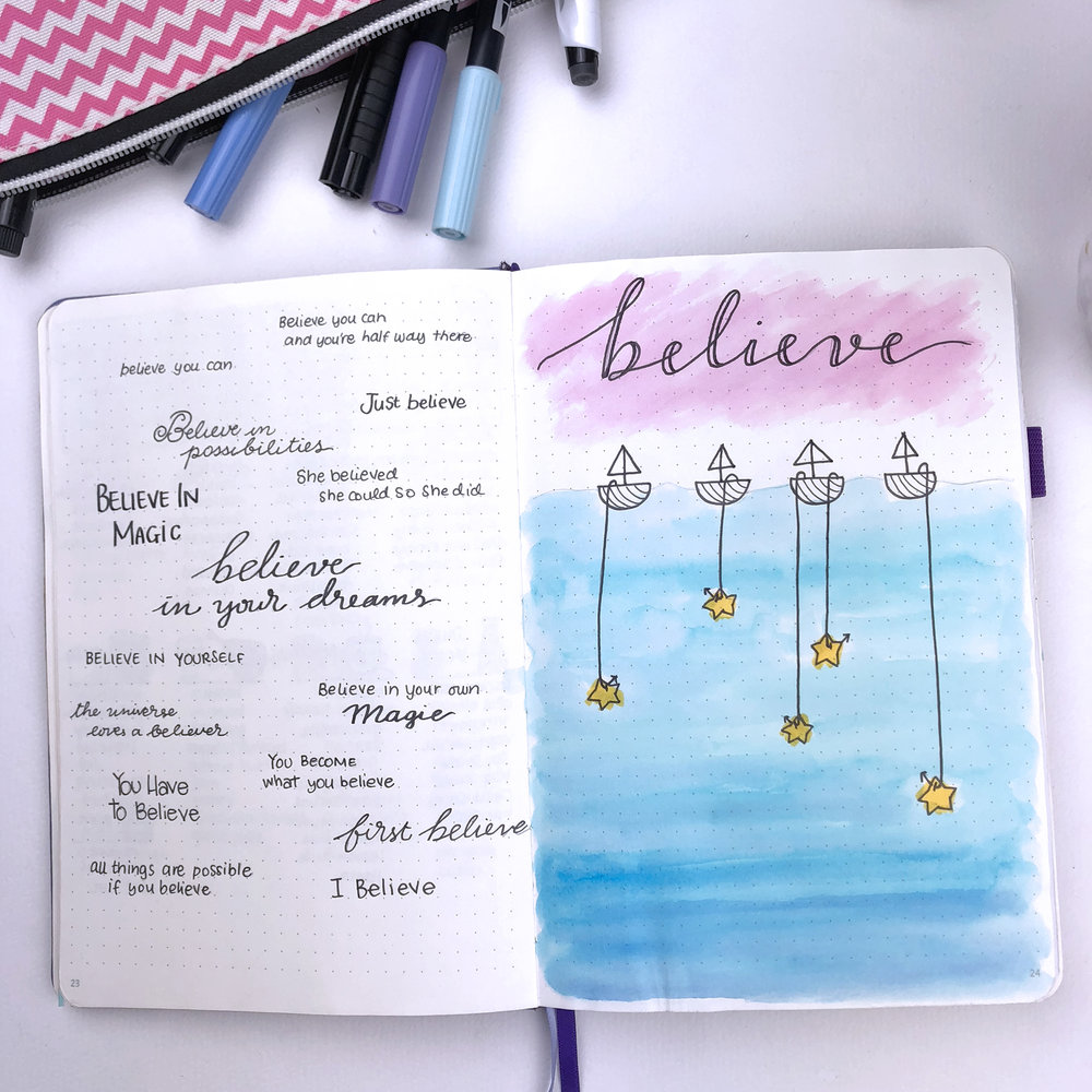 My 2018 Bullet Journal Flip Through | christina77star