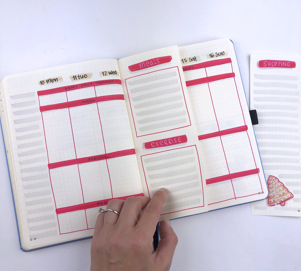 Bullet Journal Weekly Spread Ideas for December 2018