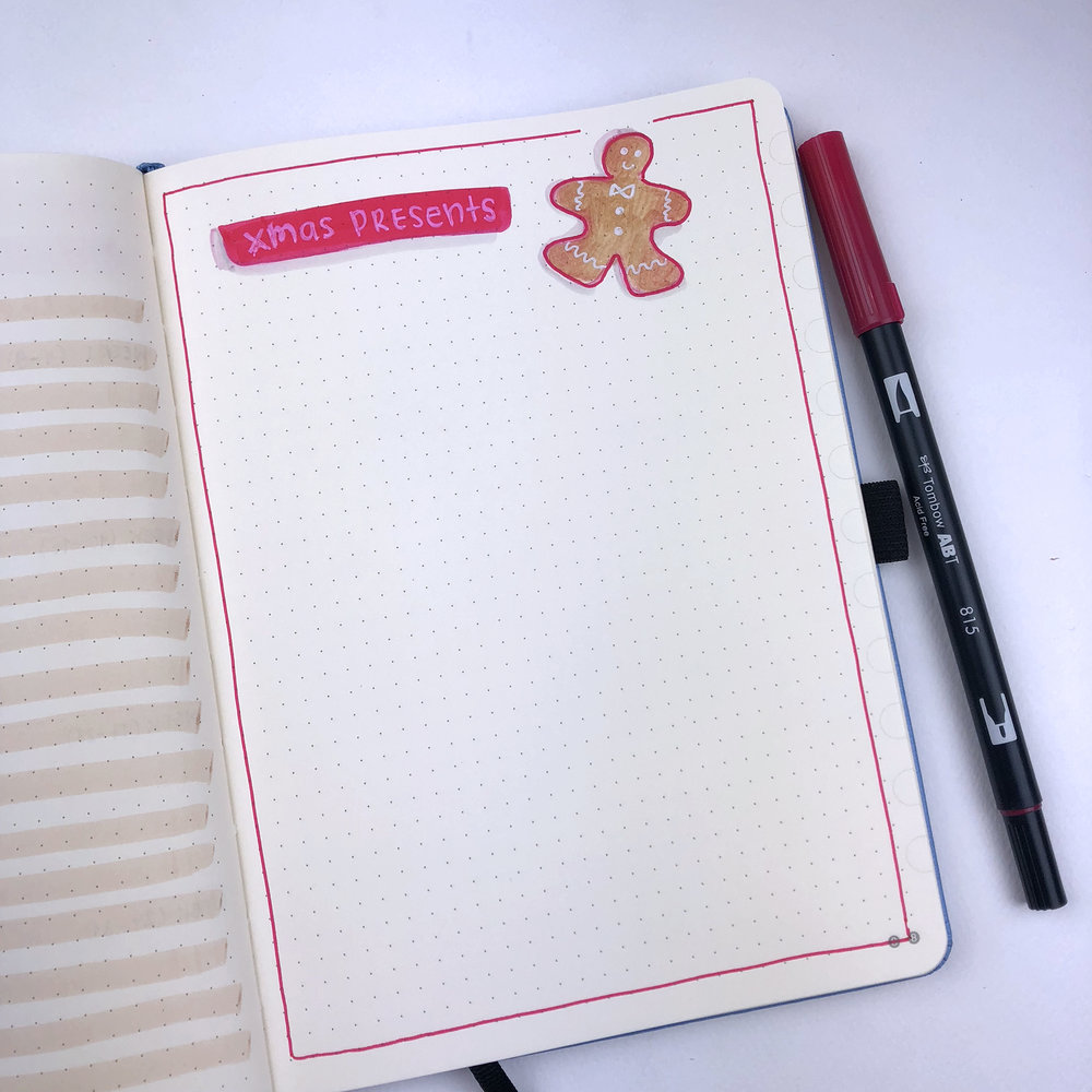 Xmas Presents List - Bullet Journal Plan With Me - December 2018