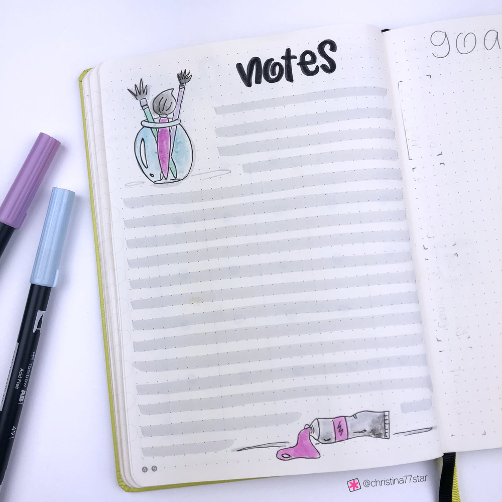 Plan With Me - Bullet Journal Setup - March 2019