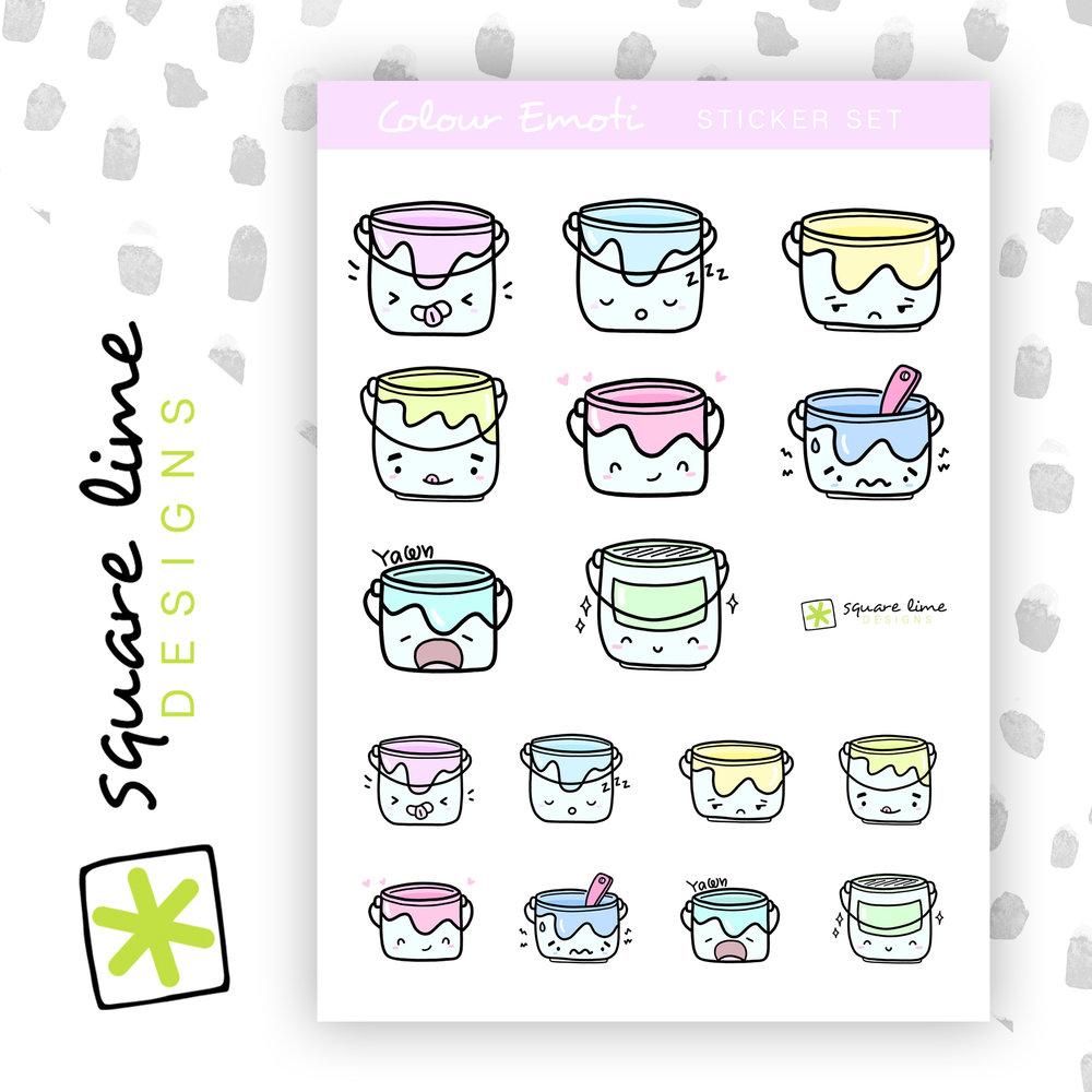Cute! - Colour Bucket Emotis