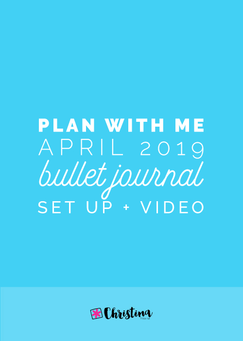 Plan With Me - April 2019 - Bullet Journal setup