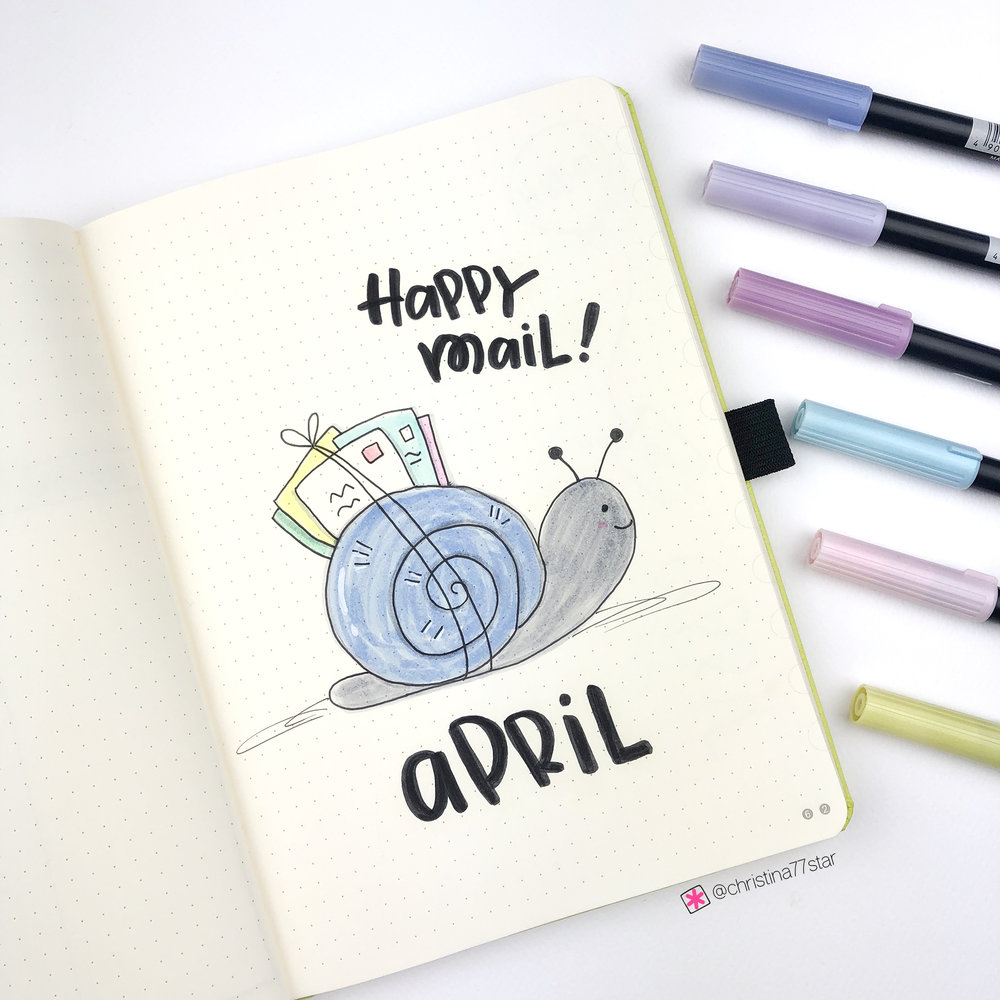 April 2019 - Bullet Journal Setup