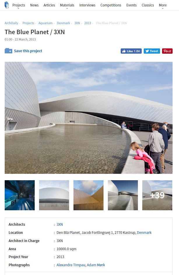 ArchDaily - THE BLUE PLANET