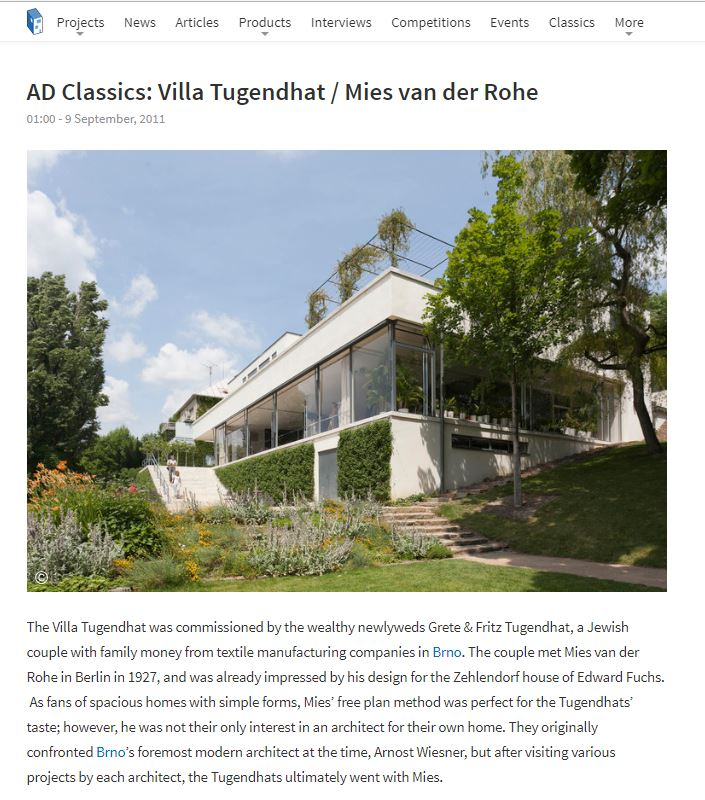 ArchDaily - TUGENDHAT VILLA