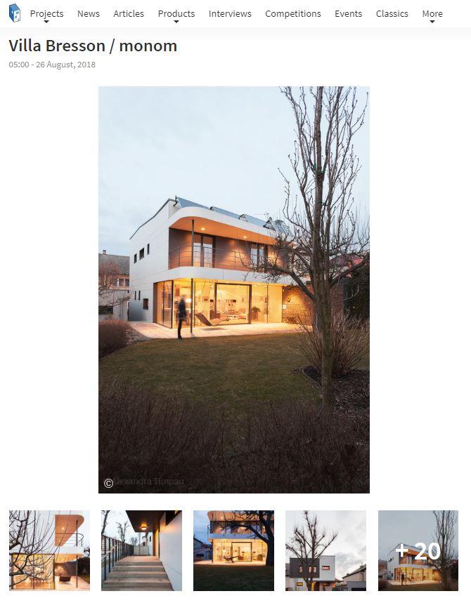 ArchDaily - Villa Bresson