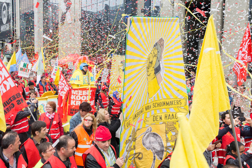 Demonstration Union of Cleaners, Brussels, 2014
