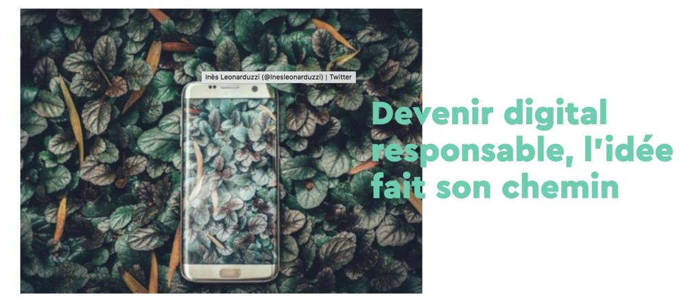 digital responsable - digital for the planet - les chuchoteuses