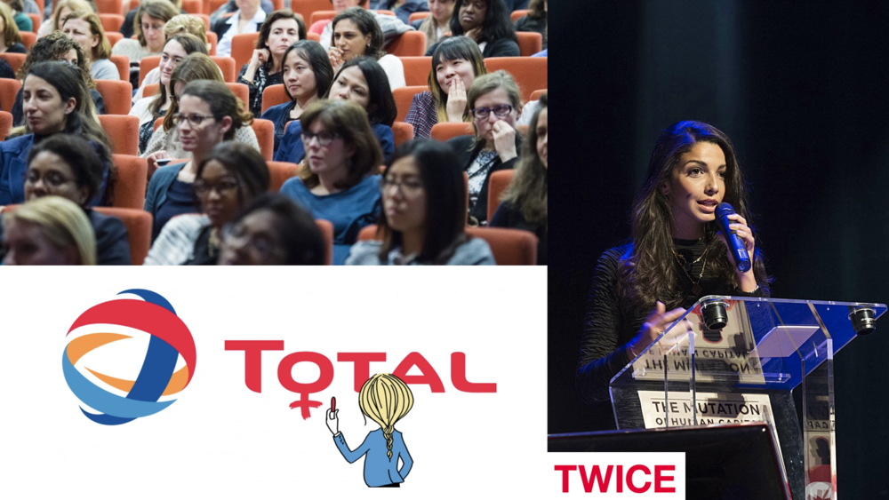 Inès Leonarduzzi will speak at  TWICE, the international female network at Total , about ecology, career, way of life and leadership on the 19th of October 2018 at Total Puteaux headquarter.