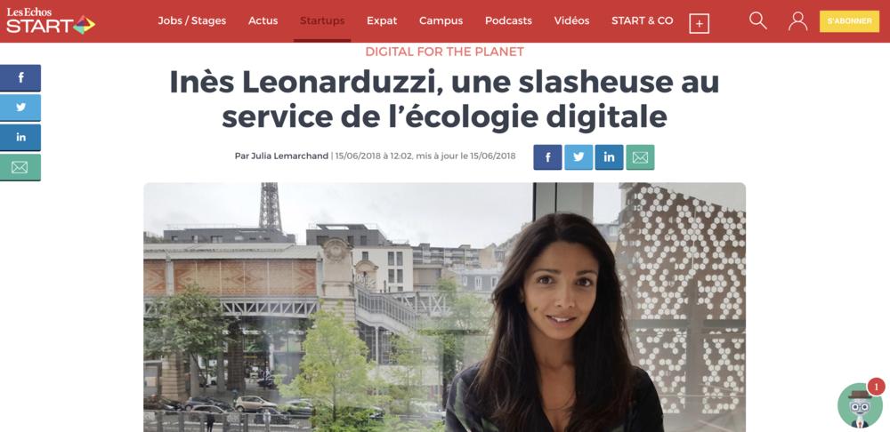 Digital For The Planet en INTERVIEW LIVE dans  LES ÉCHOS  — Click  here  to read more.