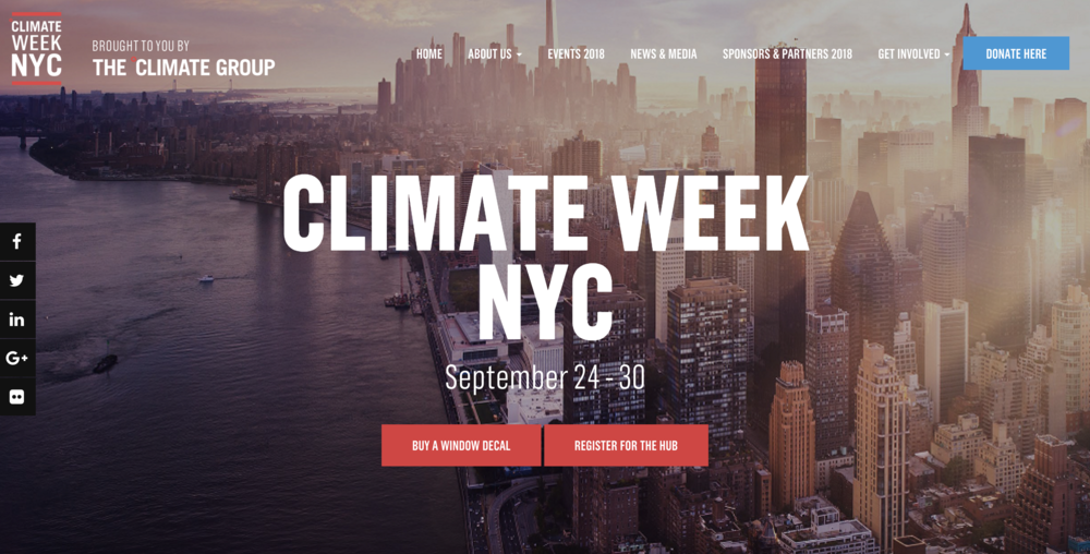 Un Climate Week - One planet summit