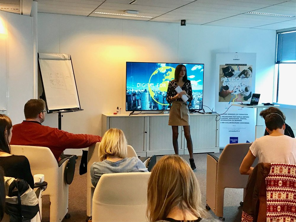 Digital For The Planet at TF1 for digital ecology immersion, October, 2018