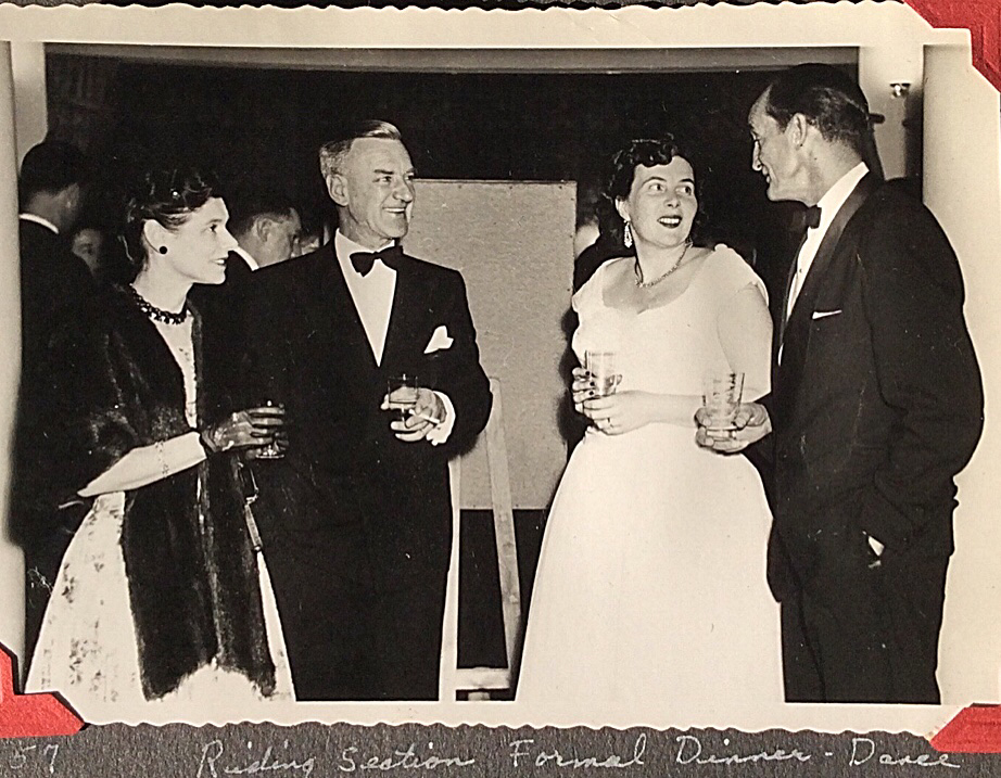 Don and Lorraine Newton (pictured on right) attending a formal dinner - dance in 1957