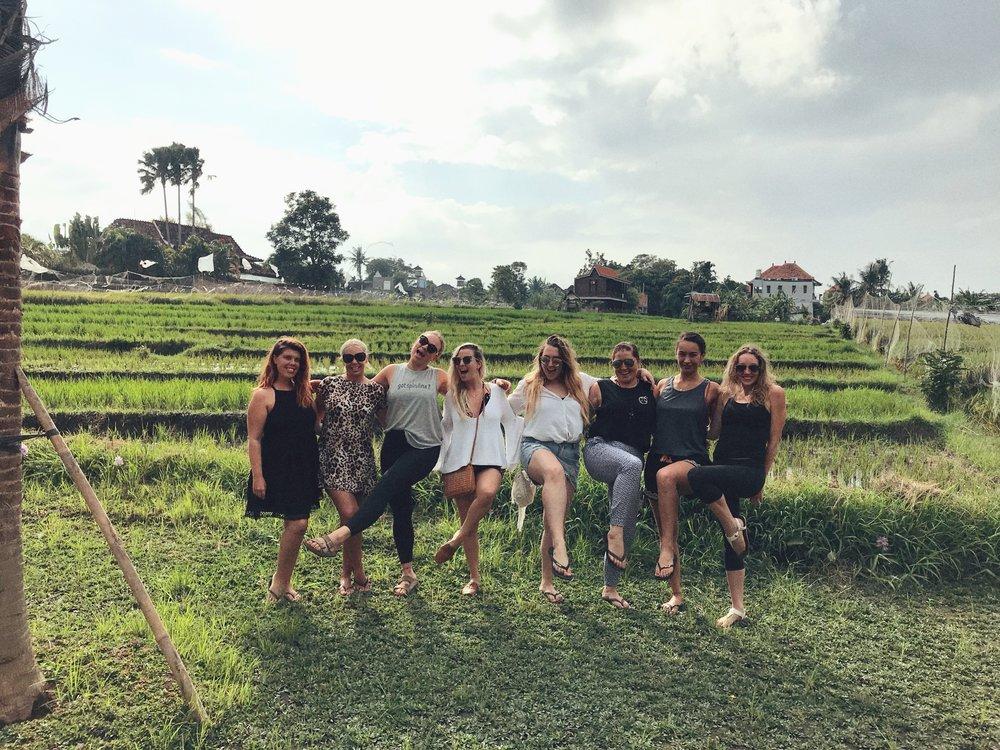 The beautiful women on my 'Bali best life' retreat - May 2018