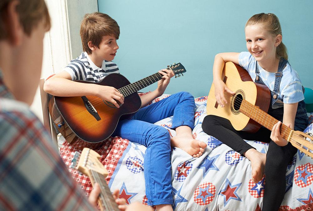 Una manera lúdica de ejercitar la escucha musical, la concentración y la atención.