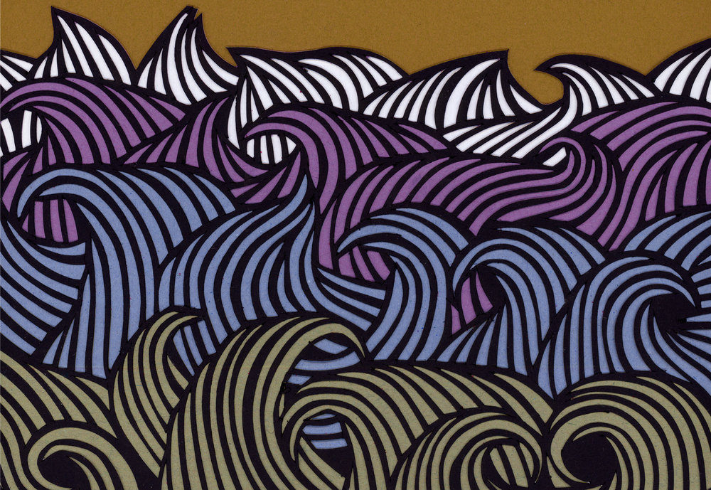 Sea Purple detail