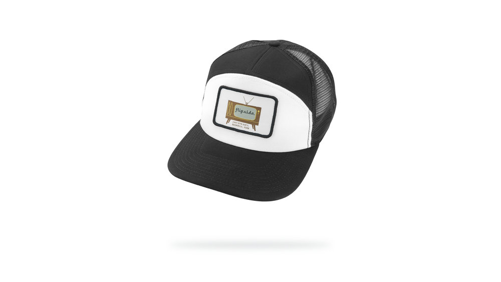 Featured Hat: 7-Panel Trucker Snapback w/Woven Label Patch Applique
