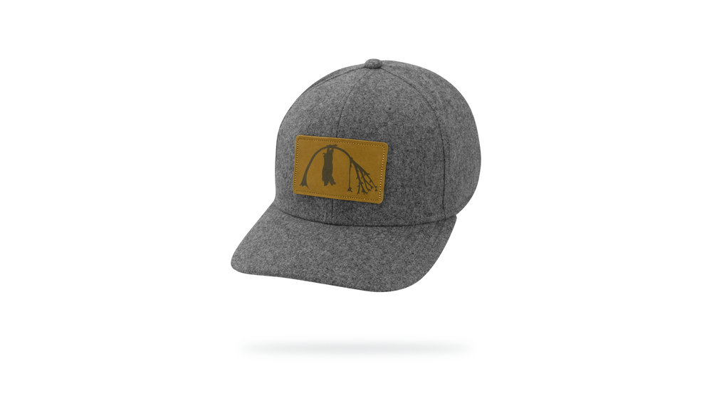 Featured Hat: NEW Poly-Wool Blend hat with Versa Visor & Leather applique.