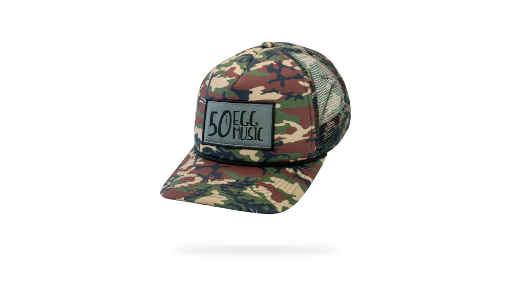 Featured Hat: STYLE LIII - Sublimated Foam Trucker Cap w/ Woven Label Applique