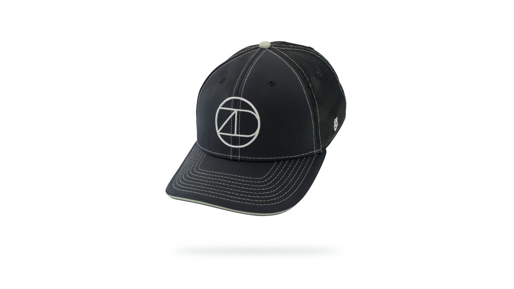 Featured Hat: STYLE III - Performance Trucker Hat w/ Versa Visor and Sandwich Insert. Front Logo is 3D Embroidery.