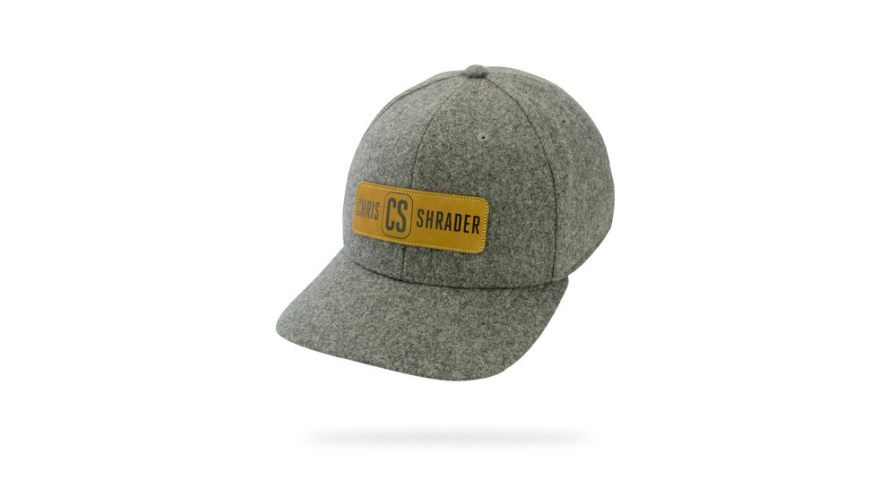 Featured Hat: STYLE - NEW Heather Polyester-Wool Blend Cap w/ Versa Visor & Printed Leather Patch