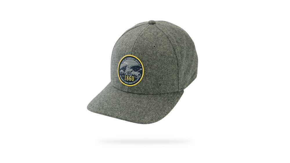 Featured Hat:  STYLE - NEW Heather Polyester-Wool Blend Cap w/ Versa Visor & Woven Label Applique