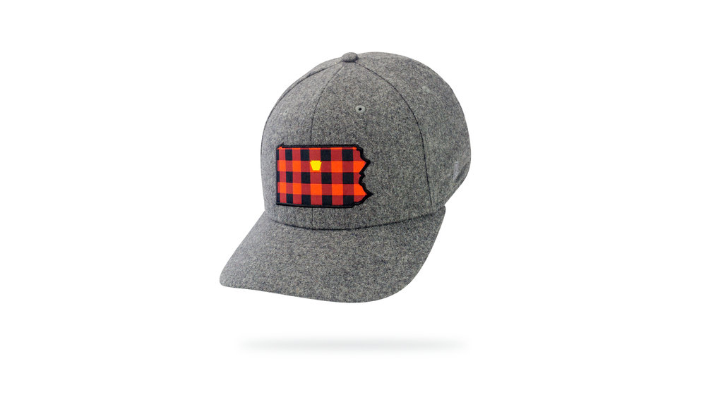 Featured Hat: Style VIII - Classic Wool Blend w/ woven label patch.