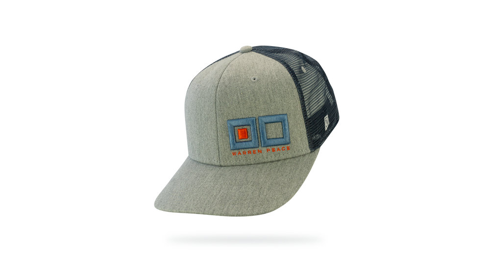 Featured Hat: STYLE IV - Vintage Heather Trucker Hat w/ Versa Visor & 3D Embroidery