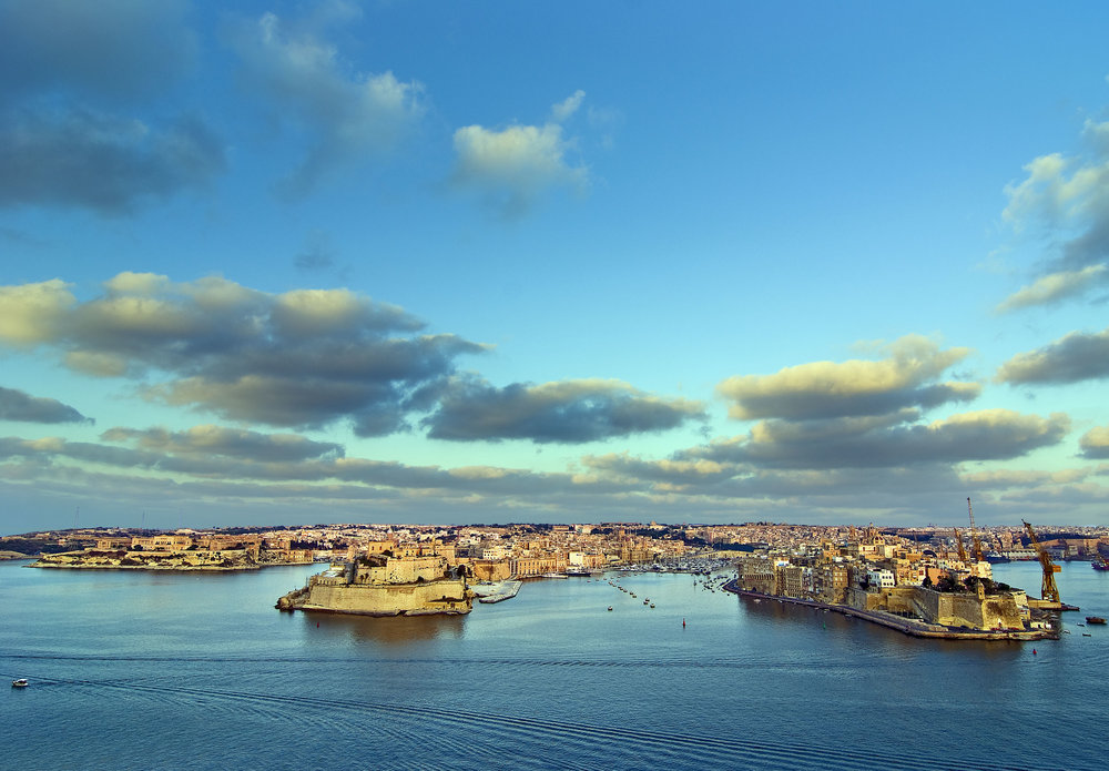 The Grand Harbour (view from Valletta of the three cities)